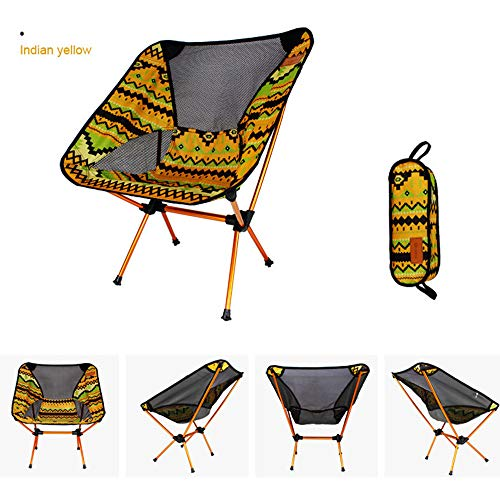 Voberry- Patio Folding Deck Sling Back Chair Indoor Outdoor Camping Garden Pool Beach Seat Using Chairs Space Saving Set of 2 (Yellow)