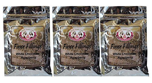 White Chocolate Buttercream Frosting (White Chocolate Raspberry Finer Fillings 60g Dessert Mix by More Than Cake, 3 Pack)