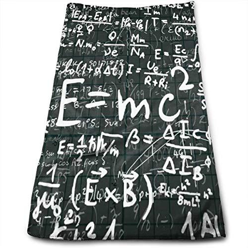 HFXFM Mathematics Formula Chalkboard Multipurpose Soft Polyester Lightweight Hand Towel for Bath, Pool, Beach, Travel Towel,Bath Sheet, 30cm X ()