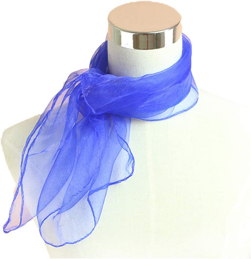 white 1950s Square Chiffon Scarf Sheer Square Neck Head Scarfs for Women,girls,ladies