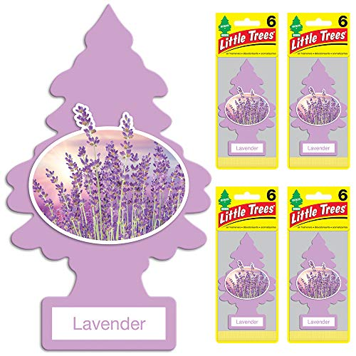 Lavender Car - Little Trees auto air freshener, Lavender, 6-Packs (4 Count)