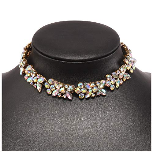Holylove Sparking Crystal Choker Necklace for Women Jewelry Wedding Party Festival Fashion Accessory 1 pc Crystal with Gift Box - N37 Crystal by Holylove