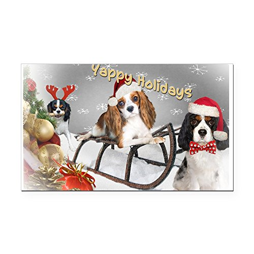 CafePress - Cavalier King Charles Christmas Fun Rectangle Car - Rectangle Car Magnet, Magnetic Bumper Sticker