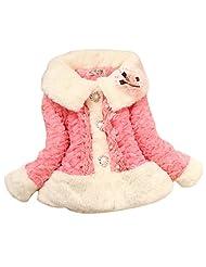 Cute Baby Kids Toddler Girls Winter Warm Jacket Coat Snowsuit Outwear - watermelon 12