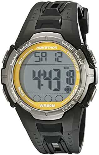 Marathon by Timex Men's T5K803 Digital Full-Size Black/Yellow Resin Strap Watch