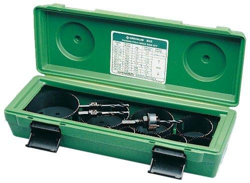 Greenlee 835 Bi-Metal Hole Saw Kit, Conduit Sizes 1/2'' - 4'' by Greenlee