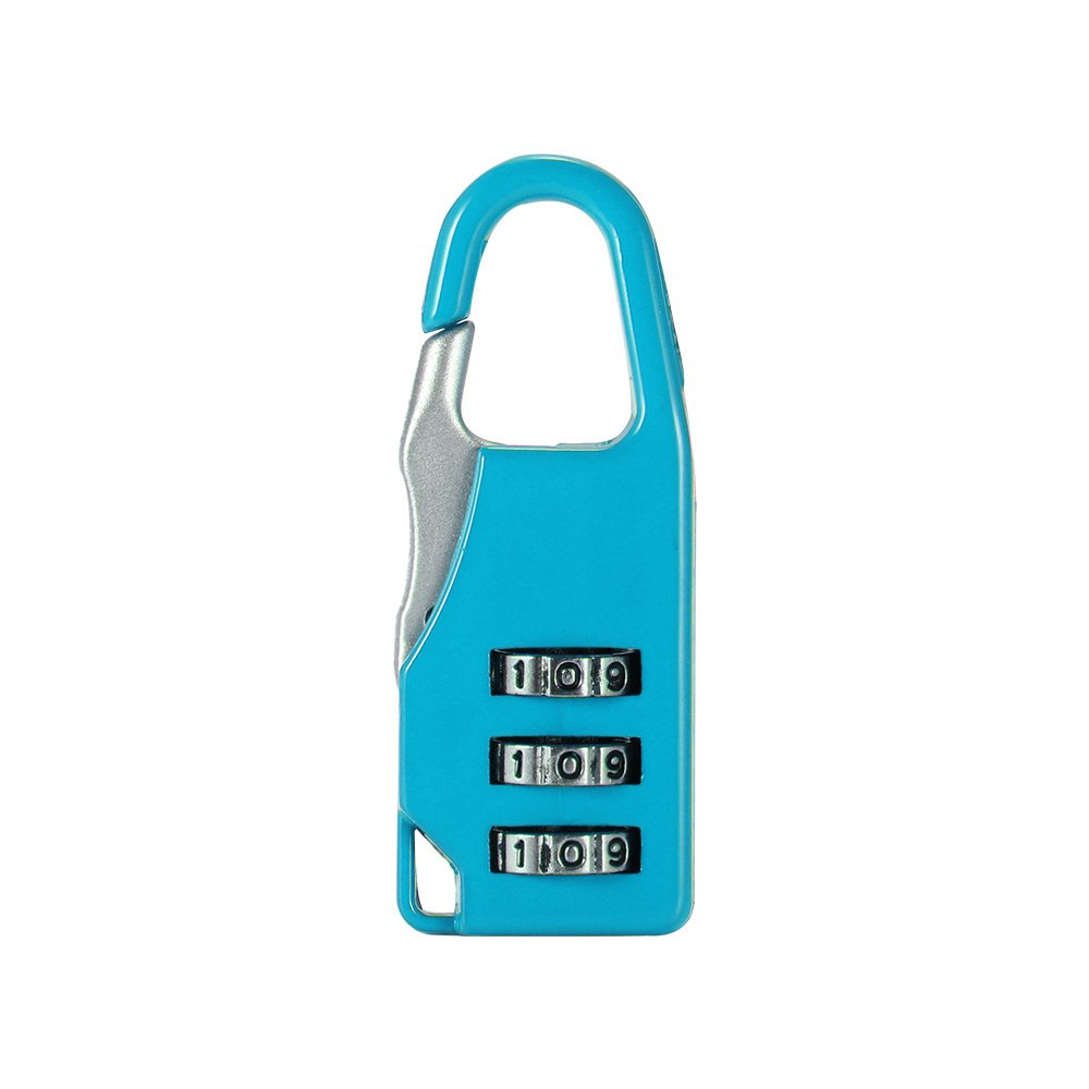 TiooDre Deposito Serrature TSA Locks 3 cifre Combinazione di Password 5pcs in Diversi Colori-Blue