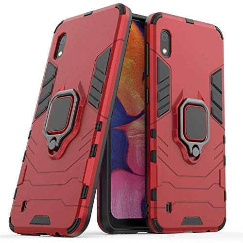 - Case for Galaxy A10 DWaybox Ring Holder Iron Man Design 2 in 1 Hybrid Heavy Duty Armor Hard Back Case Cover Compatible with Samsung Galaxy A10 SM-A105 6.2 Inch (Red)