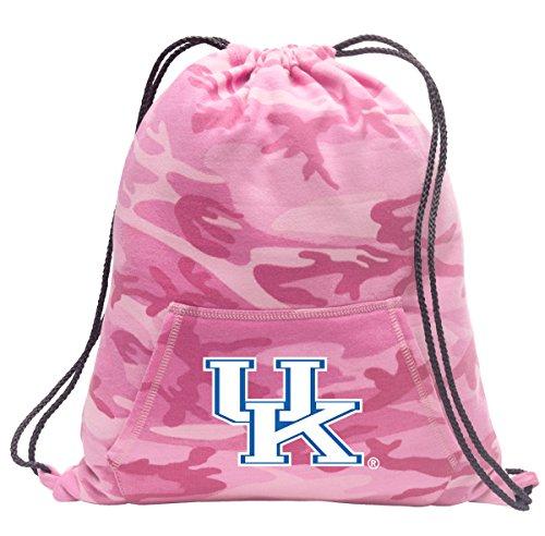 Broad Bay Cute Camo University of Kentucky Drawstring Bag Hoody Kentucky Wildcats Cinch Pack for Girls & Women (Uk Wildcats Womens Sweatshirt)