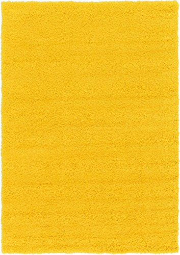 Tuscan Bedroom Decor (A2Z Rug Cozy Shaggy Collection 3x5-Feet Solid Area Rug - Tuscan Sun Yellow)