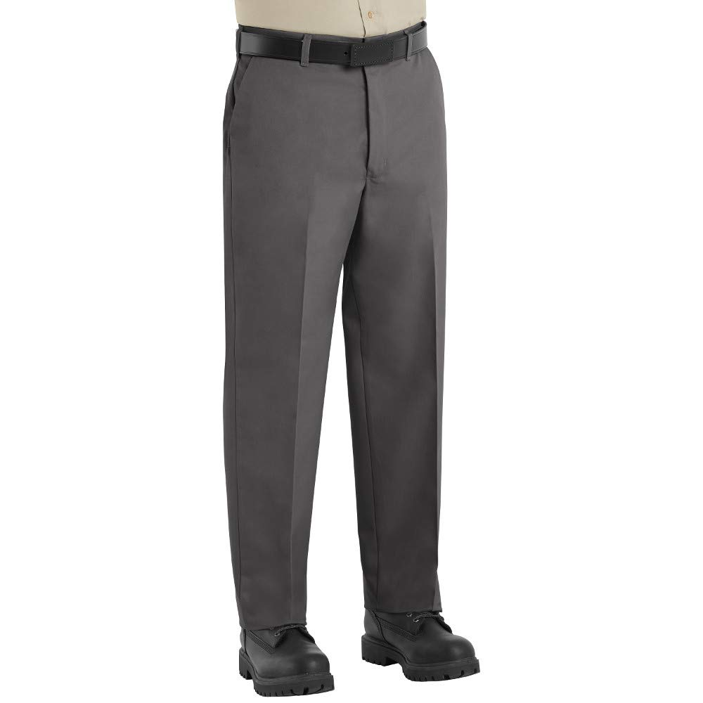 Red Kap Men's Wrinkle-Free Regular Fit Twill Blend Work Pants Charcoal 2 Pack - 38x30