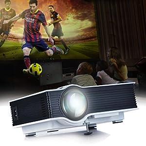 UVISTAR UC40+ Mini Mobiler Projektor LED LCD HD Beamer TV Videoprojektor...