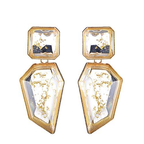 Acrylic Geometric Irregular Shaped Pendant Drop Statement Earrings