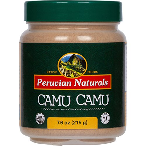 Organic Camu Camu Powder 7.6oz (215g) - Peruvian Naturals | Certified-Organic, Powerful Vitamin C Supplement and superfood …