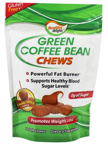 Healthy Natural Systems - Green Coffee Bean Chews Caramel Apple - 30 Soft Chews by Healthy Natural Systems