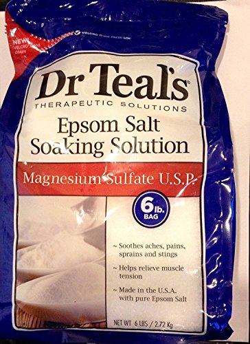 Dr. Teal's Therapeutic Solutions, Epsom Salt Soaking Solution, Magnesium Sulfate U.S.P., 6 lb. BAG (2 Bags)