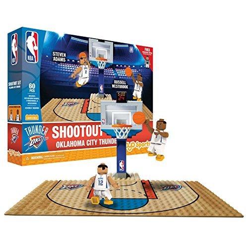 OYO NBA Oklahoma City Thunder Display Blocks Shootout Set, Small, No Color by OYO