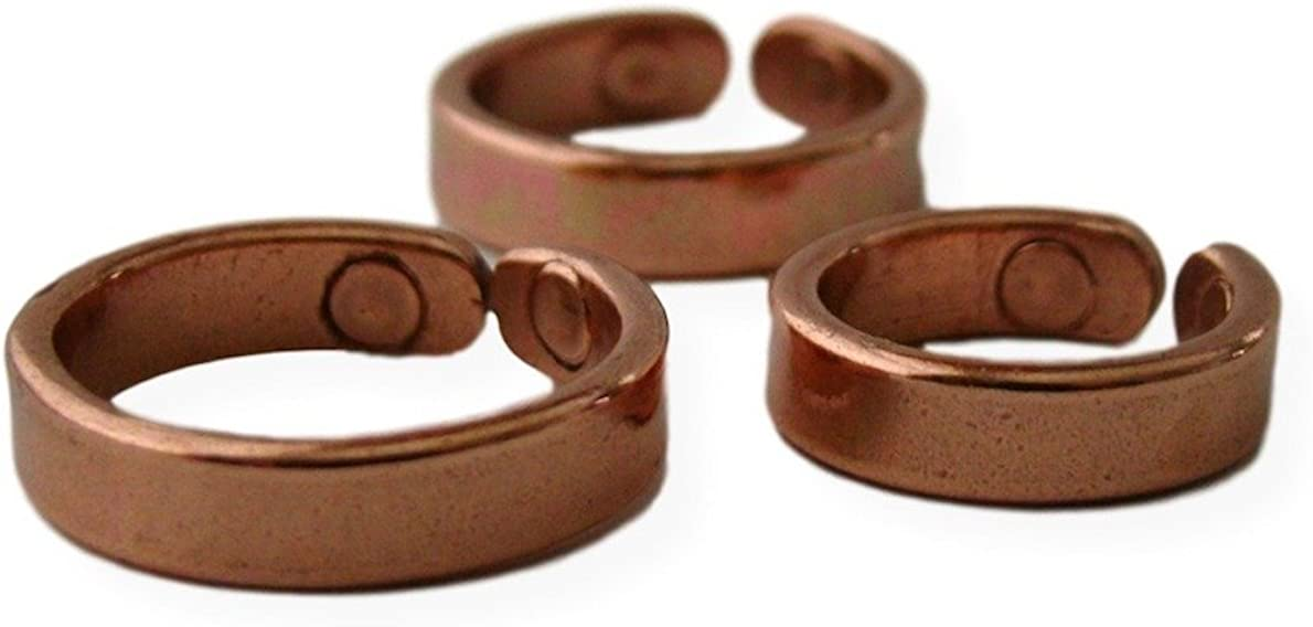 ProExl Solid Copper Magnetic Therapy Ring Lapaz with Gift Box (12.0): Jewelry