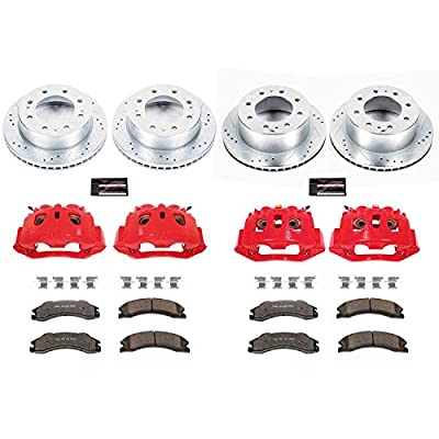 Power Stop KC5561-36 Front and Rear Truck and Tow Brake Kit with Caliper: Automotive