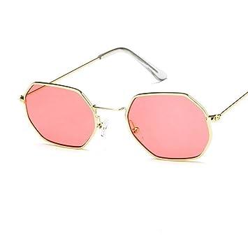 XIELH Gafas de sol Moda Cuadrado Rojo Hombres Mujeres Gafas ...