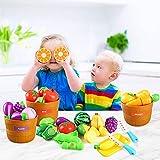 Veluoess 27PCS Play Kitchen Plastic Cutting