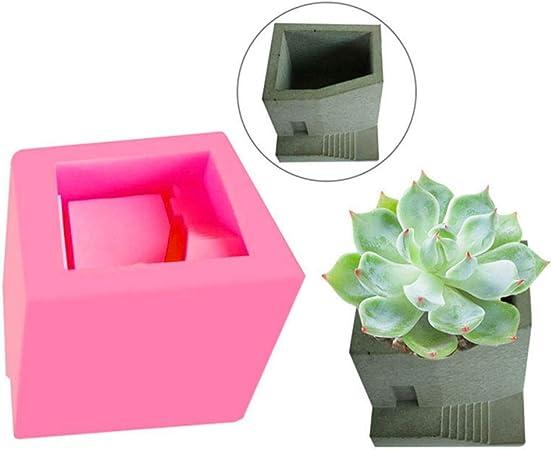 Planter Pot Mold Stair Succulent Diy Flowerpot Maker Garden Tool Pottry Silicone