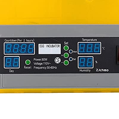ZJchao Hot Sale! The latest Fully Automatic 48 Digital Clear Egg Turning Incubator Hatcher Temperature Control(48 Eggs)