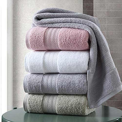 JIMIN1310 Embroidered Hand Towel Cotton Towel Set Solid Color Large Thick Bath Towel Bathroom Hand Face Shower Towels Home Hotel for Adults Toalla De Ducha 3size
