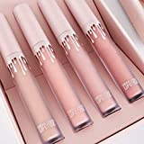 Ocamo 4 Colors Matte Vivid Color Non-Stick No-fading Waterproof Lasting Lip Gloss Lipstick Set