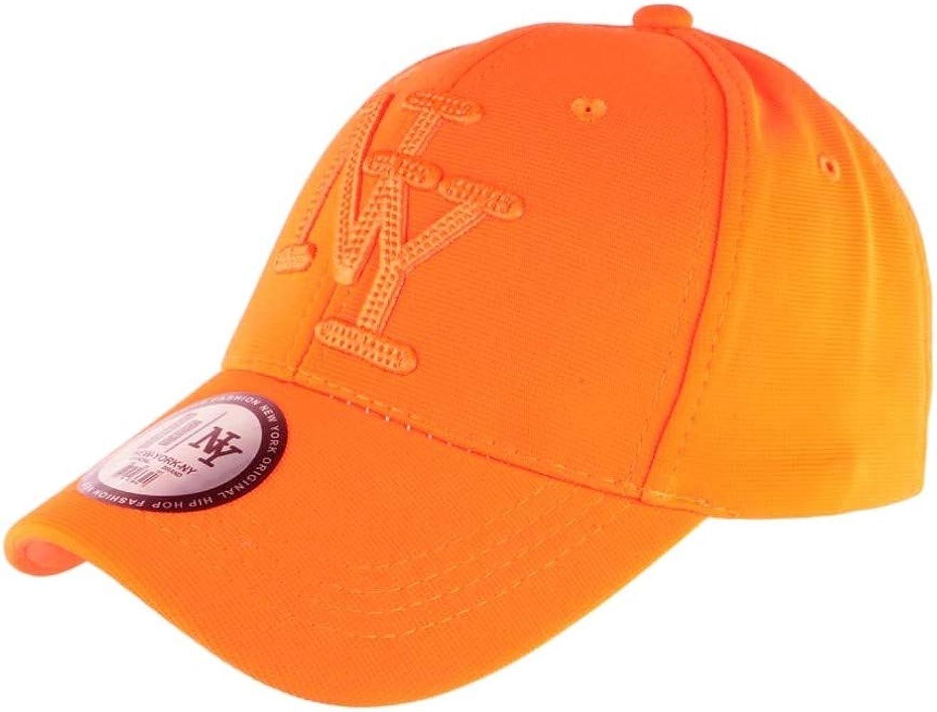 Hip Hop Honour - Gorra NY, Color Naranja Fluorescente Naranja ...