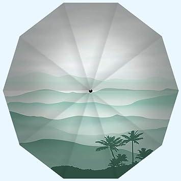 Amazon.com: Sombrilla de viaje a la moda, protección UV ...