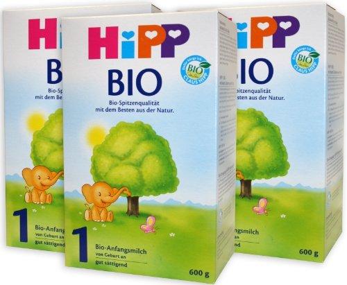 HiPP 1 Bio, Bio-Anfangsmilch, Pulver, 1.800 g (3 x 600 g), 2022