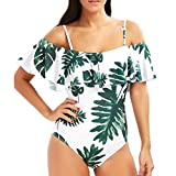 Software : HOT SALE, AIMTOPPY Sexy Womens Off Shoulder Bikini Printed Bandage Push-Up Padded Swimwear Swimsuit (White, M)