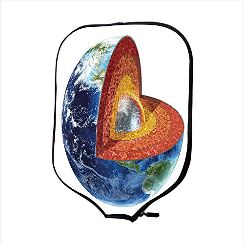 Cross Model Section Earth (Neoprene Pickleball Paddle Racket Cover Case,Earth,Earth Cross Section Showing the Inner Core Geology Science Themed Structure Print Decorative,Multicolor,Fit For Most Rackets - Protect Your Paddle)