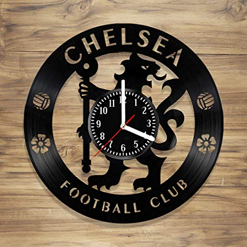 Inch Clock Football Wall 12 - Chelsea F.C. Vinyl Record Wall Clock Football Club London Pensioners Perfect Decorate Home Style Unique Gift idea for Him Her (12 inches)