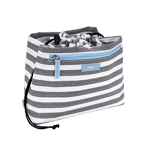 SCOUT Glam Squad Cinch-Top Makeup Bag, Water Resistant Makeup Pouch and Toiletry Bag for Women with Drawstring Closure and Zipper Compartments Multiple Patterns Available