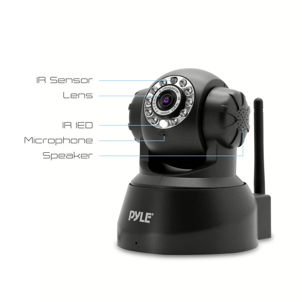Indoor Wireless Security IP Camera - Home WiFi Remote Video Monitor w/Motion Detection and Night Vision - PTZ Pan Tilt Network Surveillance, Voice Mic Audio for Mobile, Windows & Mac - Pyle PIPCAM5 by Pyle (Image #3)