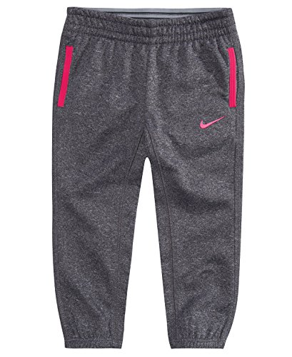 Nike Little Girls (4-6X) Therma Pants (Cool Grey (3MB165-042)/Hyper Pink, 2T)