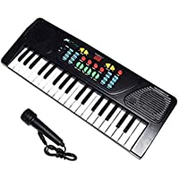 Mountain Top® 37 Key Piano Synthesizer Keyboard with MIC Musical Kids Toy with Dual Speakers, Recording , Mic and Power Saving Mode and with DC Power Option