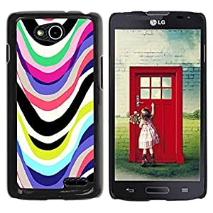 Paccase / SLIM PC / Aliminium Casa Carcasa Funda Case Cover - Lines Marker Abstract White - LG OPTIMUS L90 / D415