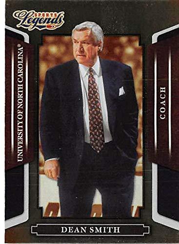 Coach Dean Smith basketball card (University of North Carolina Tar Heels) 2008 Donruss Sports Legends #61