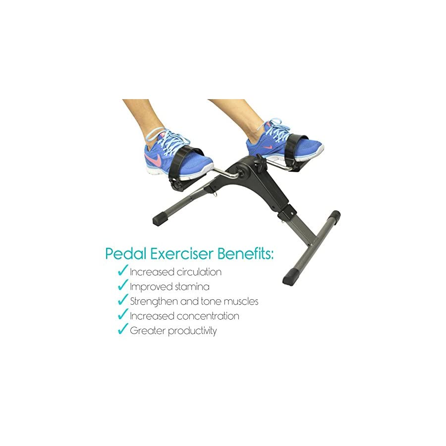 Folding Pedal Exerciser by Vive