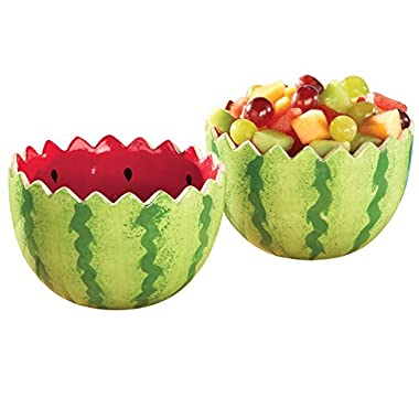 Watermelon Serving Bowls - Set Of 2