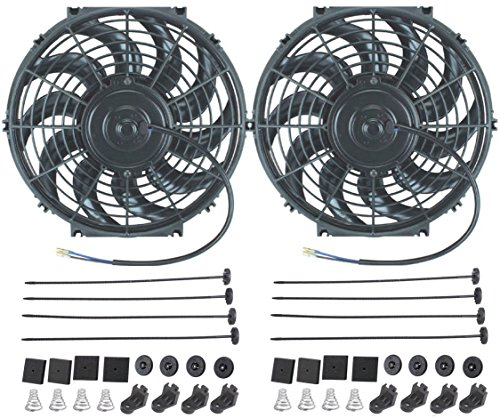 American Volt 12V Electric Radiator Cooling Fan Reversible High Performance Thermo Cooler Best CFM (12