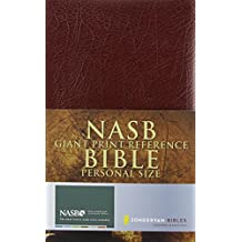 NASB, Reference Bible, Giant Print, Personal Size, Imitation Leather, Burgundy, Red Letter Edition