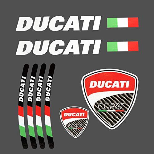 LLAP Decal Stickers for Ducati Motorcycle Tank Wheel Inner Rim Stickers Set (8packs) ()