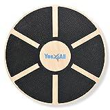 Yes4All Wooden Wobble Balance Board - Wobble Board