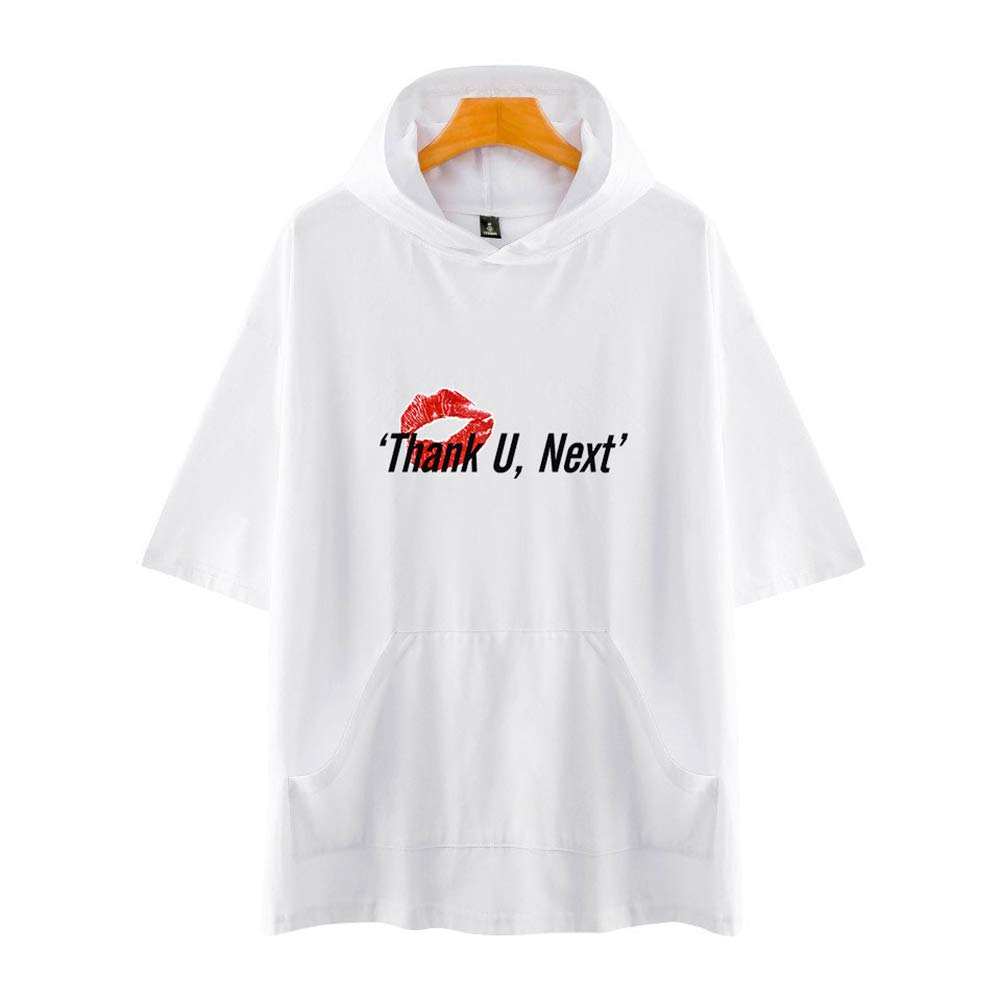 Ariana Grande 3D Stampato con Cappuccio T-Shirt Donne//Uomini di Modo di Estate Magliette A Manica Corta Casual Streetwear Tee Camicia