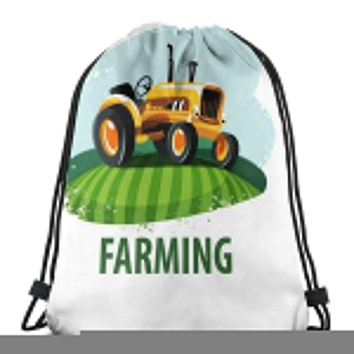 Drawstring Backpack Bag,Cinch Sack,Gym Sack,for Girls Or Men Shopping,Sport,Gym,Yoga,School,Tractor Farming