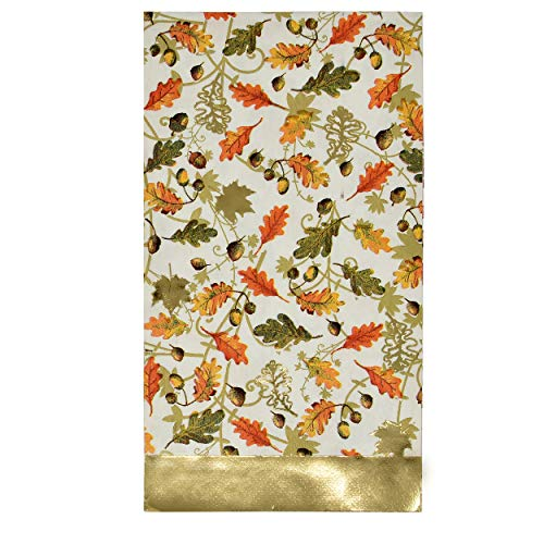 100 Count Thanksgiving Gold Foil Guest Napkins Paper Hand Towels Disposable Dinner Home Kitchen Autumn Pumpkin Harvest…
